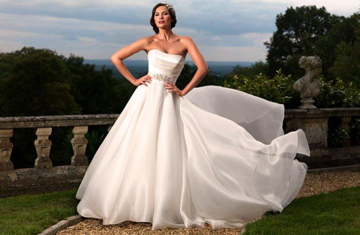 2012 wedding dress suzanne nevil strapless