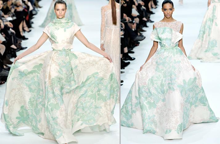 2012 couture elie saab printed wedding dresses
