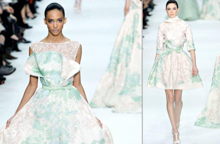 printed wedding dresses 2012 briodal gown trends elie saab