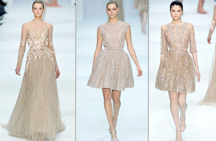 gold elie saab wedding dress inspiration spring 2012 couture