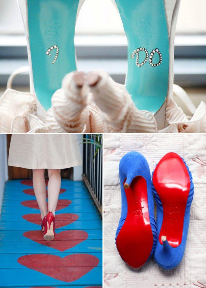 wedding shoe shots photography heels bottoms up