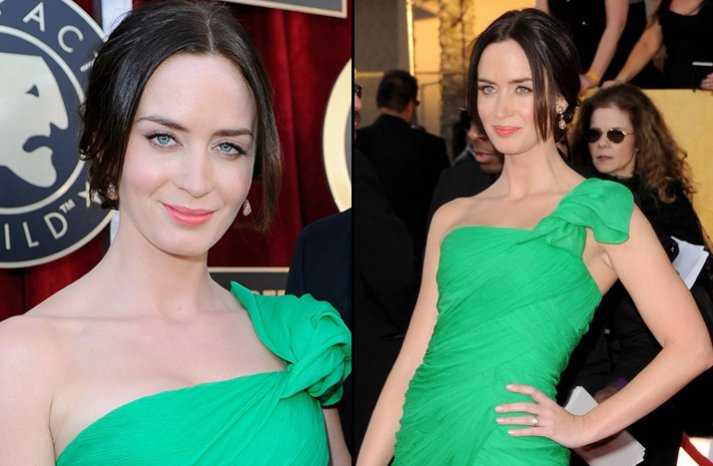 bridal beauty from 2012 sag awards wedding hair makeup emily blunt