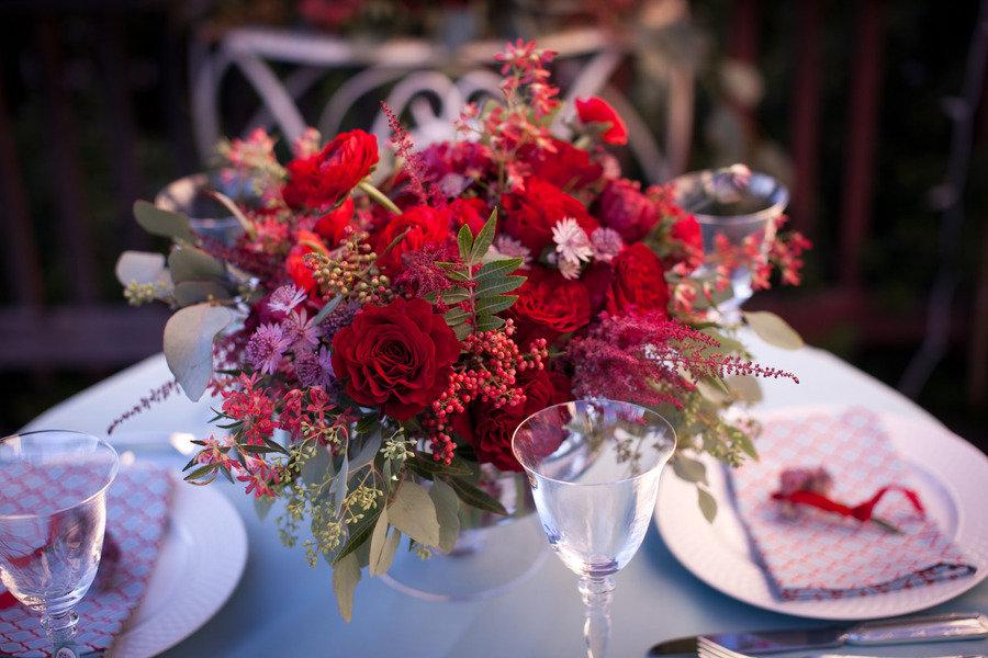 Opciones centros de mesa color rojo para boda en la playa ... - photo#20