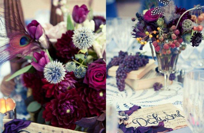 rich wedding flower centerpieces