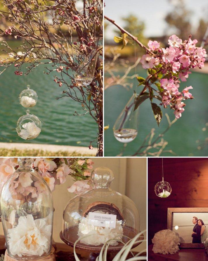 floating wedding flowers romantic outdoor wedding