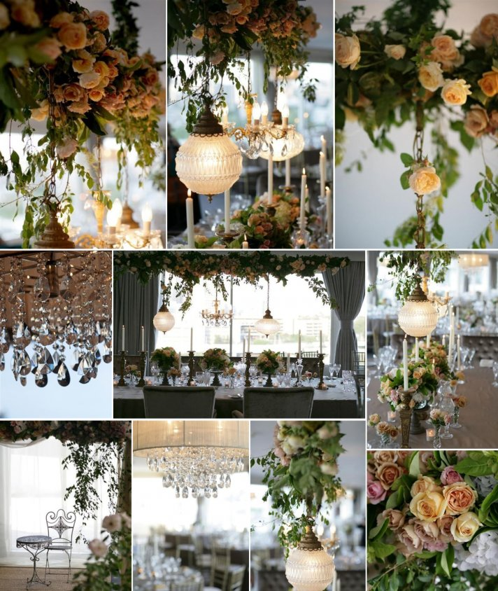 Elegant Wedding Reception Decoration: Wedding Flowers That Float