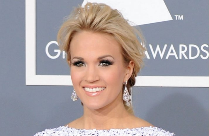 carrie underwood 2012 grammys wedding hair updo bridal makeup inspiration