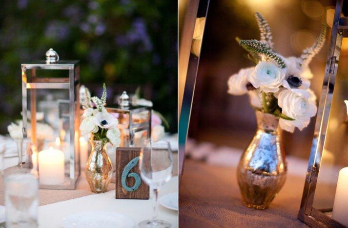 outdoor weddings romantic white anemone wedding flower centerpieces