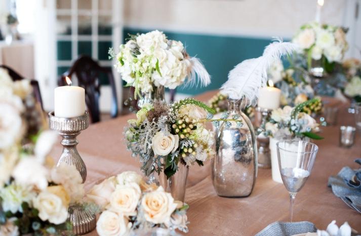 silver sparkle winter wedding inspiration
