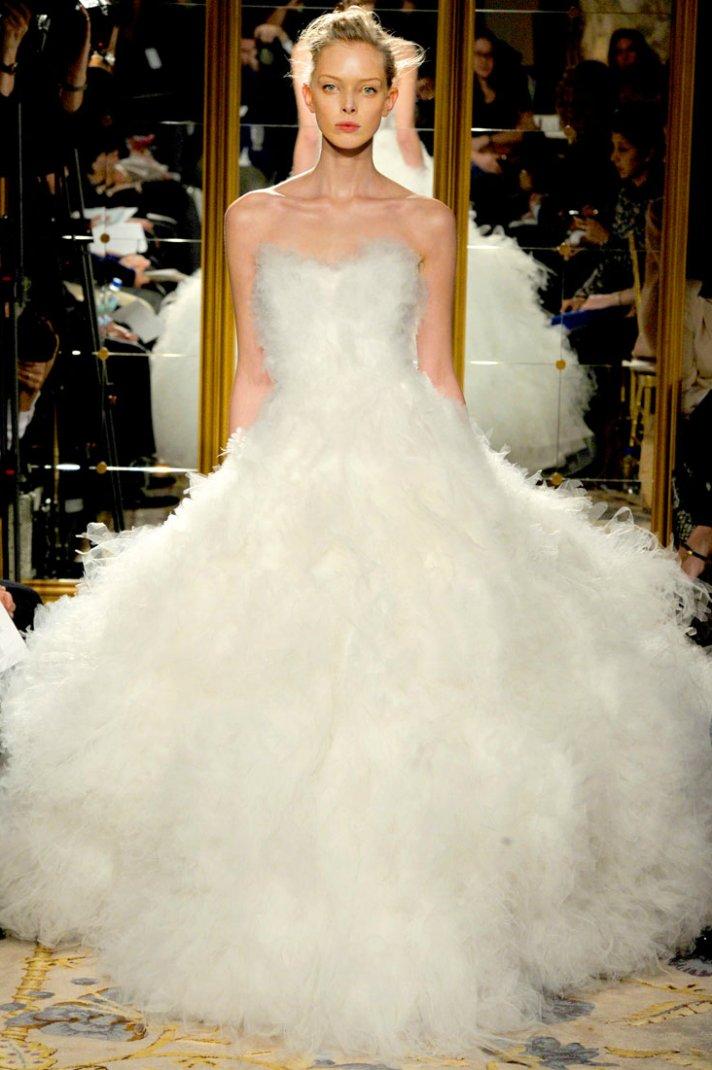 Fall 2012 wedding dress inspiration Marchesa RTW frothy white ballgown