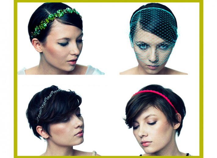modern wedding style wedding hair accessories veils