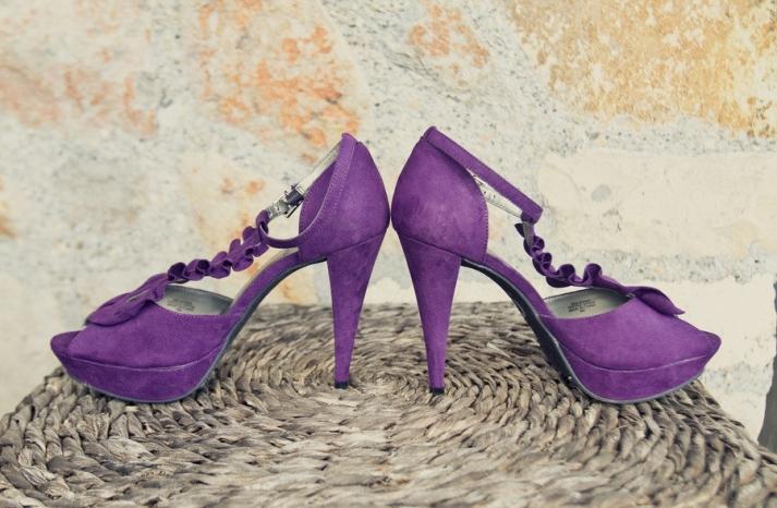 purple suede wedding shoes platform heels