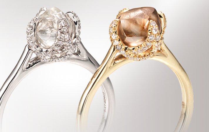 DITR unique engagement rings rough diamonds