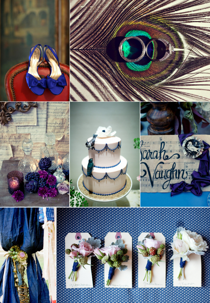 Regal Peacock Wedding Color Inspiration February 23rd 2012 by Azure Navy