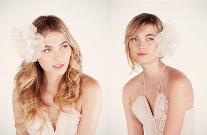romantic bohemian brides wedding hair accessories by ban do