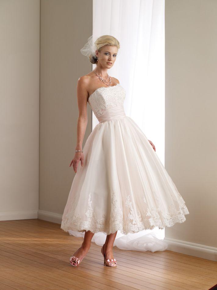 2012 wedding dress destinations mon cheri casual bridal gowns tea length 112108
