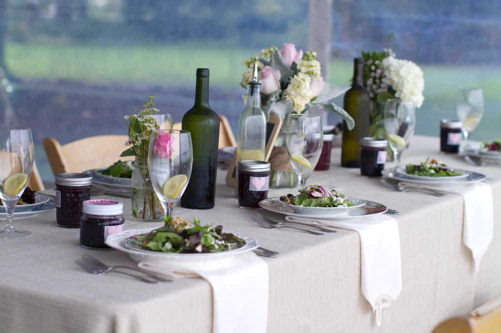 outdoor real wedding simple