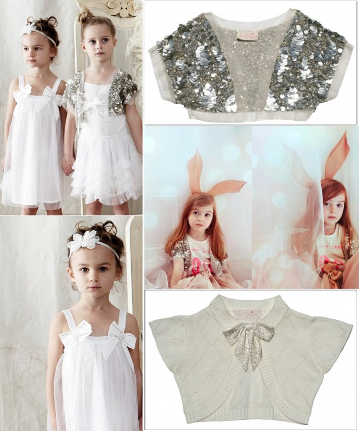 sparkly flower girl accessories dresses white cream