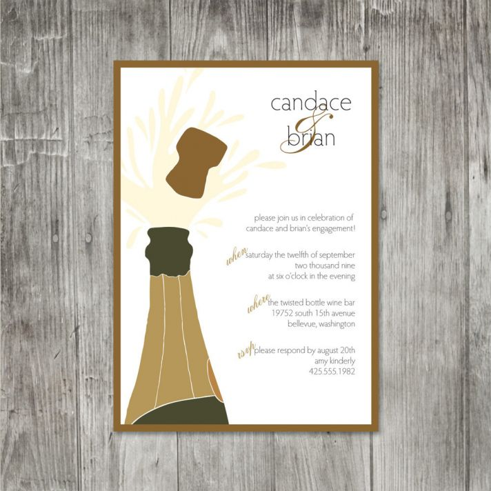 champagne wedding invitations chic neutrals