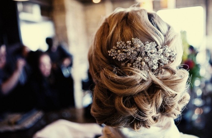 REAL WEDDING CHIC WEDDING HAIRSTYLE ALL UP WITH EMBELLISHED COMB