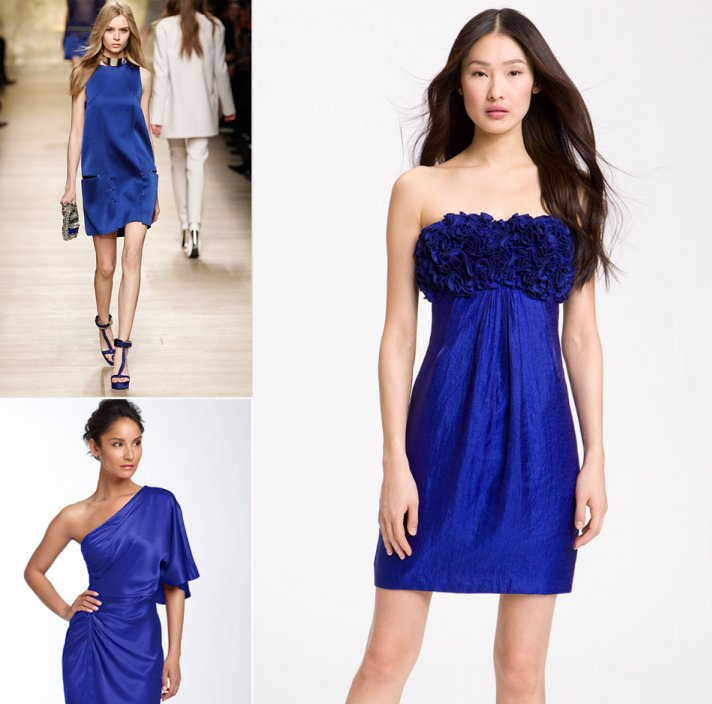 cobalt blue bridesmaids dresses fashion week 2012 inspiration