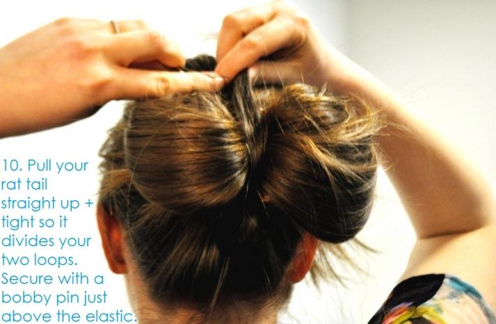 DIY wedding hair ideas bridal updo bow bun 12