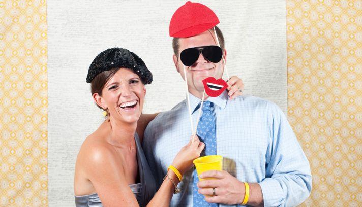 wedding reception ideas photobooth fun