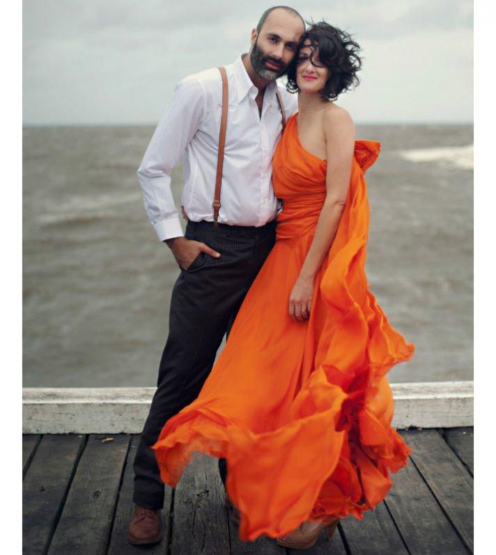 orange one shoulder wedding dress 2012 wedding bridal trends