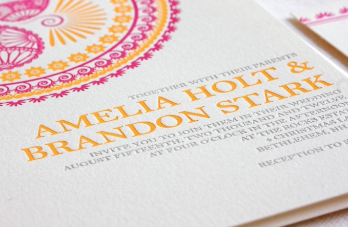 crush worthy wedding stationery Indian Design Letterpress Wedding Invitations
