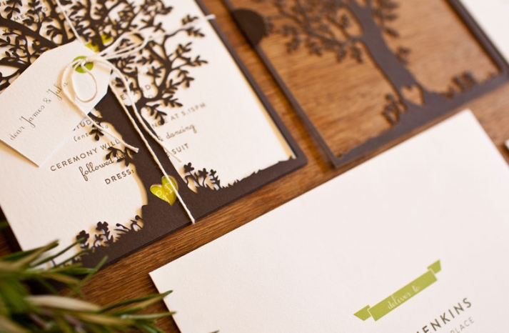 crush worthy wedding stationery Laser Cut Tree Wedding Invitations 2