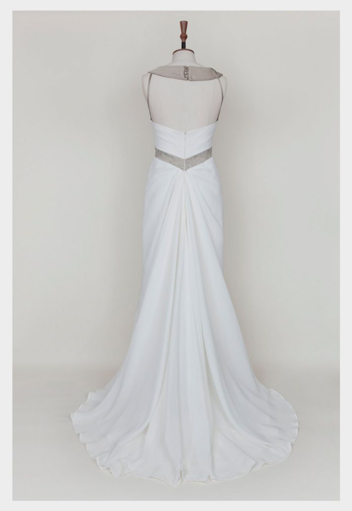 white vintage inspired wedding dress white