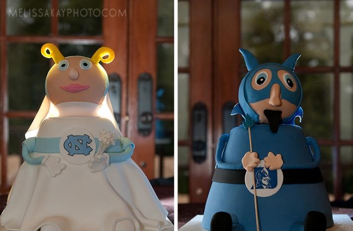 march madness wedding cakes North Carolina vs Duke