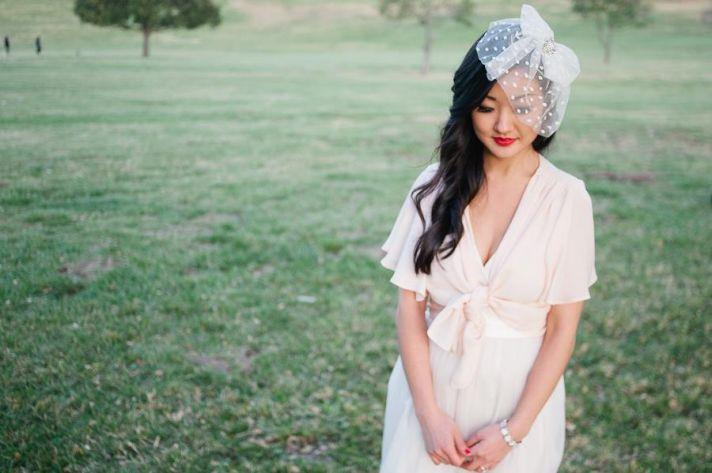 vintage bridal veil swiss dot blusher