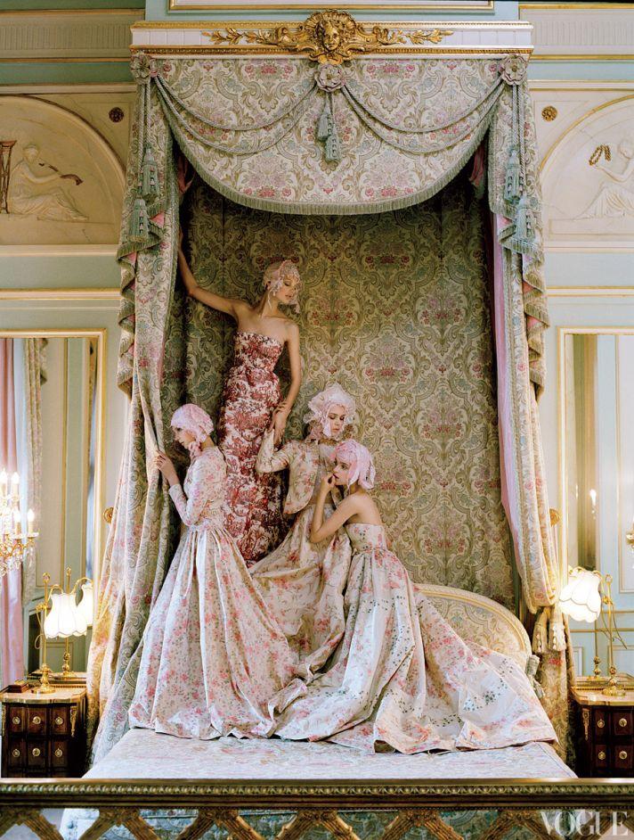 dramatic wedding inspiration kate moss elegant ballroom wedding venue printed wedding dresses