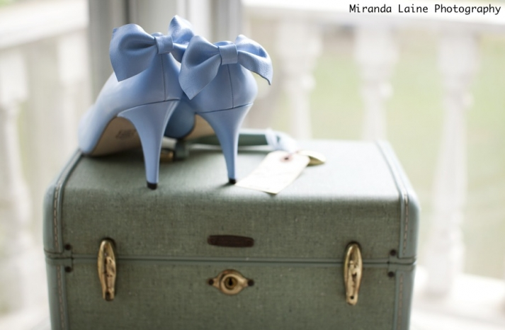 something blue wedding shoes romantic real wedding