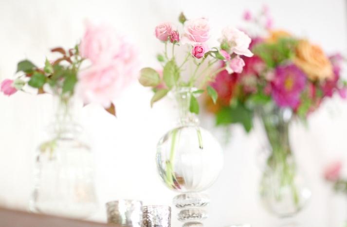 enchanted romantic garden wedding hanging centerpieces