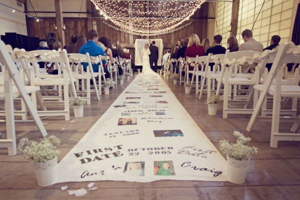 DIY wedding ceremony aisle runner