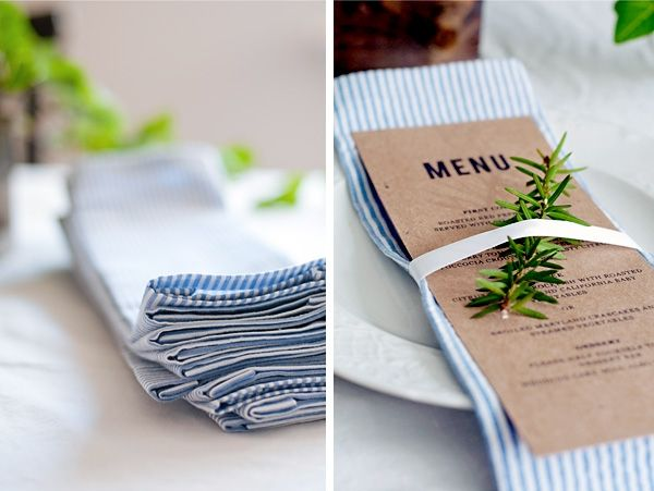 DIY no sew napkins