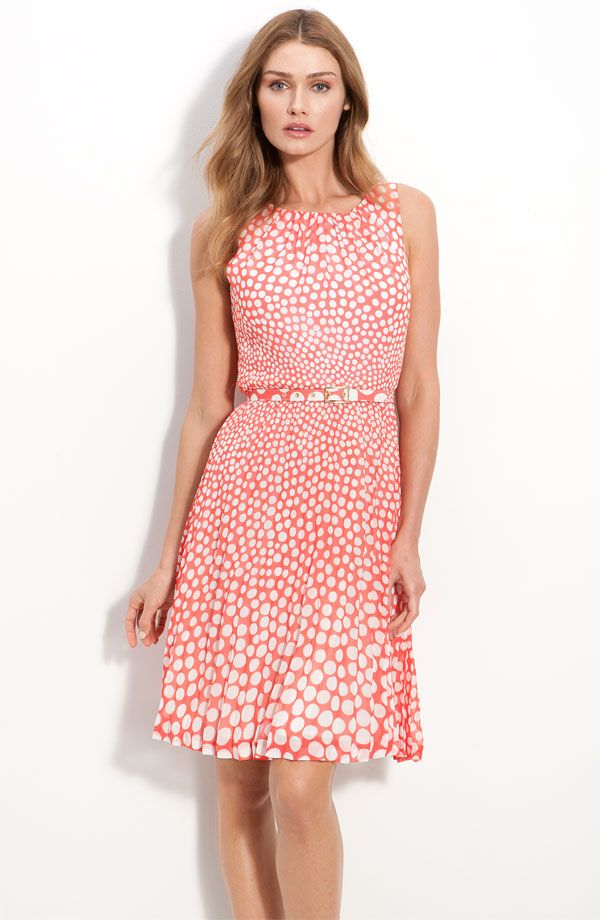 printed bridesmaid dress 2012 spring wedding trends coral white