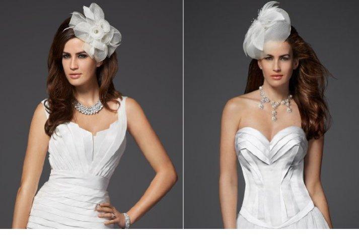 on trend bridal hats wedding fascinators by bebe
