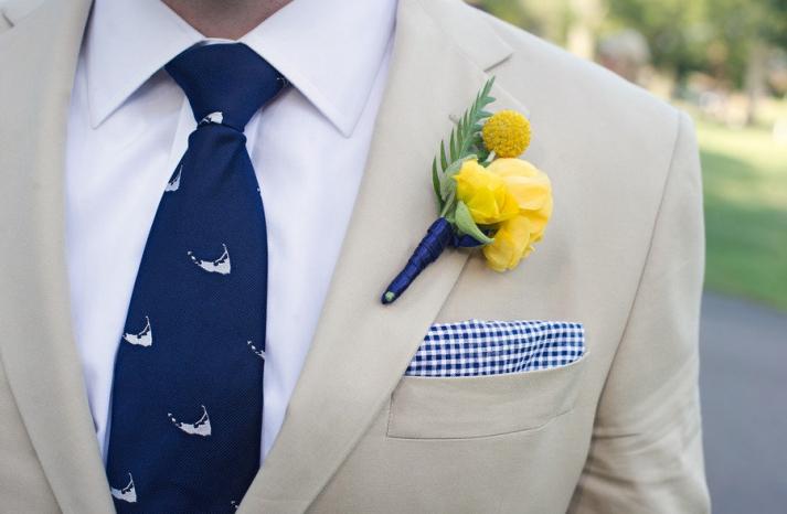 cobalt blue lemon wedding inspiration casual groom