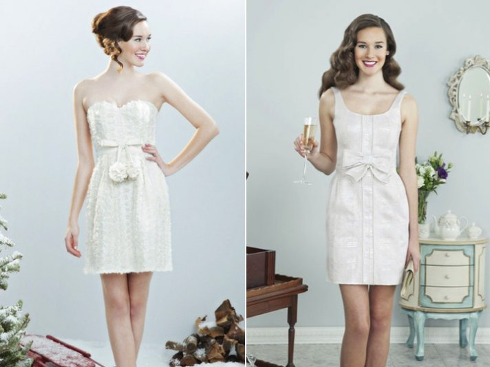elegant little white wedding dresses for reception LWD 4