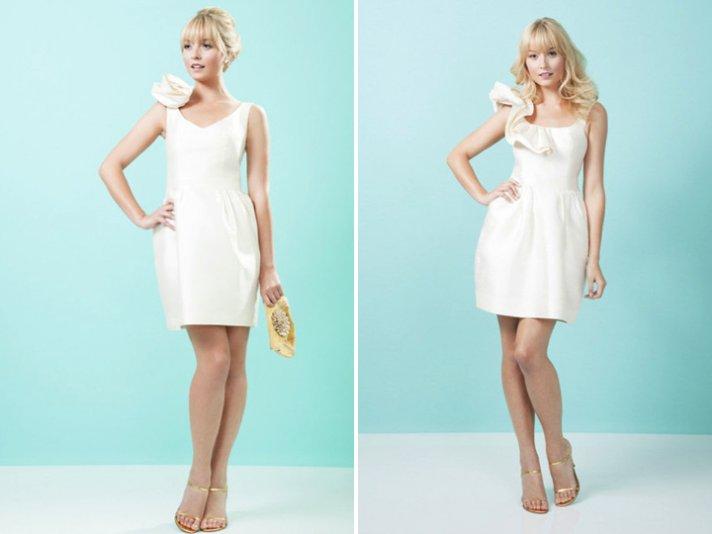 elegant little white wedding dresses for reception LWD 4
