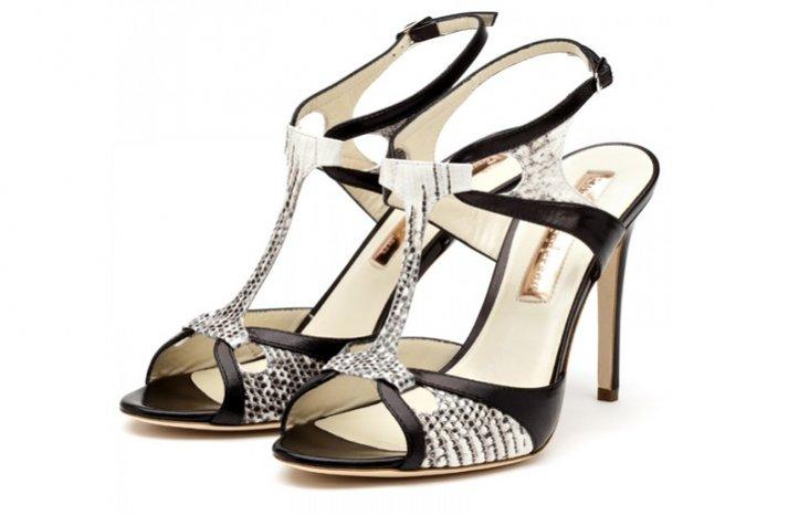 black white snakeskin wedding shoes bridal heels