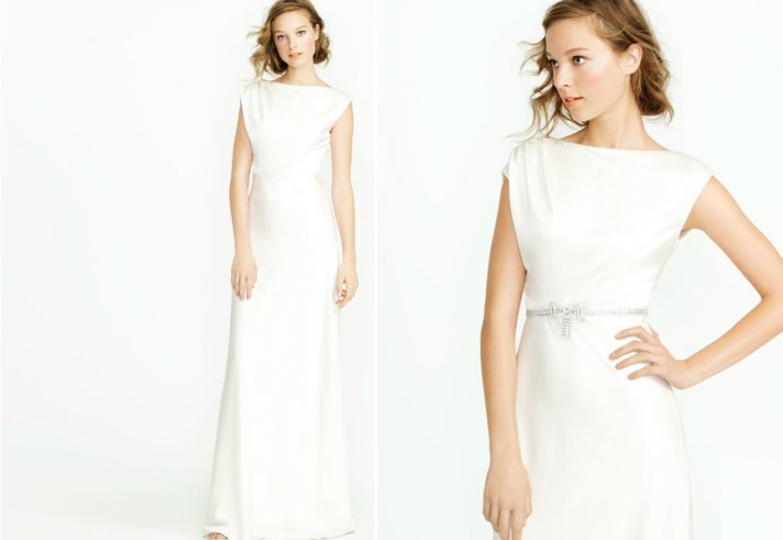 cap sleeve wedding dress j