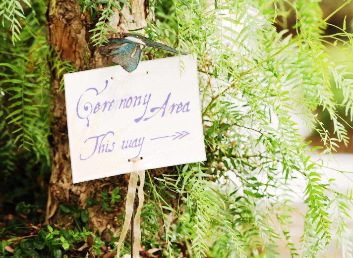custom wedding ceremony sign