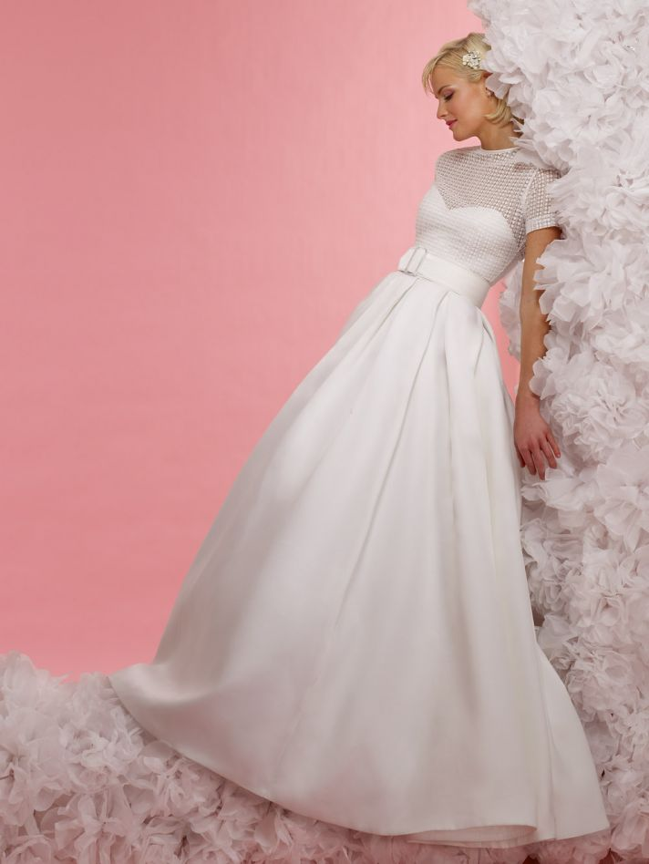 vintage inspired wedding dress 2012 bridal gowns steven birnbaum collection Kristen
