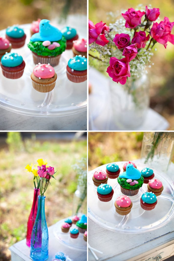 easter wedding inspiration bold wedding flowers peeps