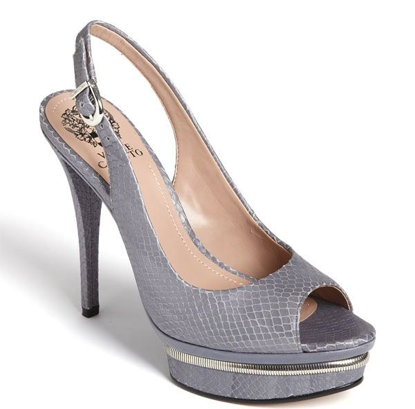 Credit Silver and grey platform wedding shoes