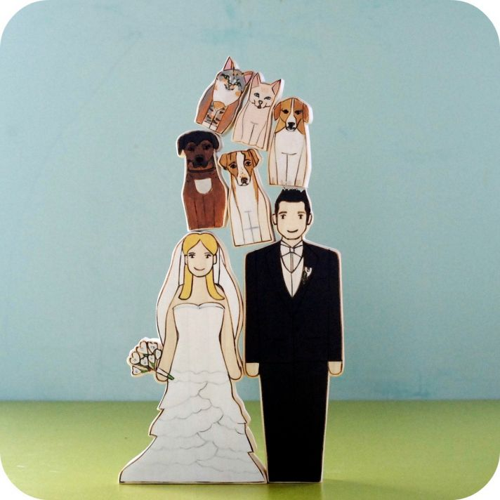 Wedding Cake Toppers Dog Lovers